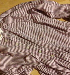 рубашка блузка в полоску oversize