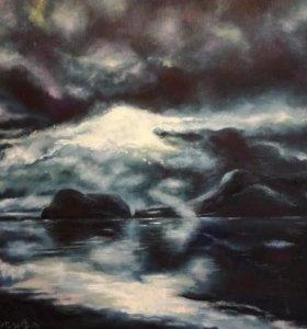 Картина маслом «Арктический день». 60*80 см
