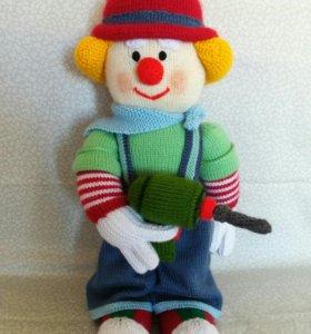 """Вязаная игрушка """"Клоун электрик"""""""