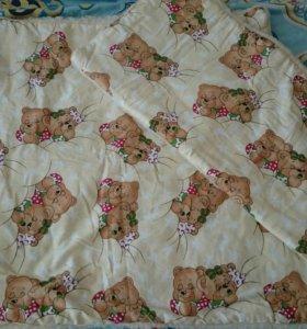Матрас,одеяло и подушка в коляску