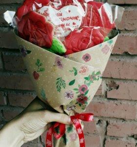 Букет из пряничных роз
