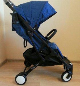Новая коляска Yoya Plus синего цвета