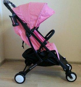 Коляска новая Yoya Plus розового цвета