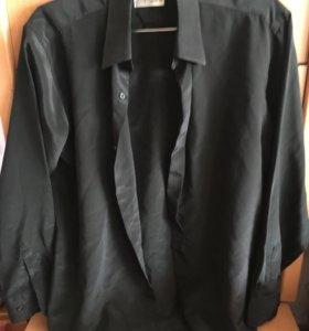 Чёрная шёлковая рубашка