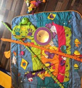 Развивающий коврик с музыкальной педалью