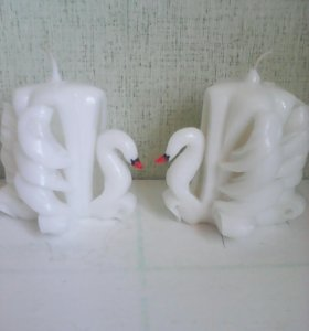 """Набор резных свечей """"Пара лебедей"""""""