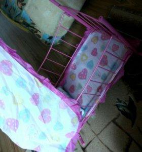 Кроватка для кукол и пупсов.