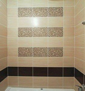 Укладка плитки - ванная, туалет и др. помещения