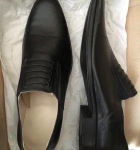 Военные хромовые туфли