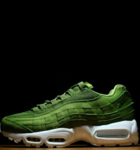 Stussy X Nike Air Max 95 Olive Green кроссовки