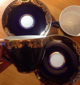 Кофейные чашки с блюдцами лфз
