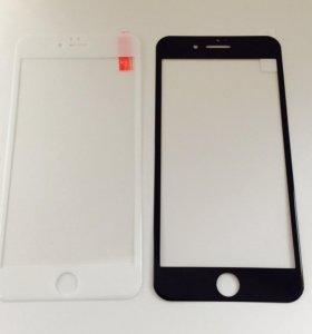 Стекло 3D углепластиковое на Iphone 6-6+ 7-7+