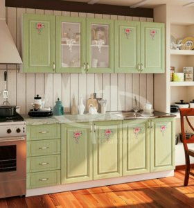 Кухня Мила зеленая МДФ