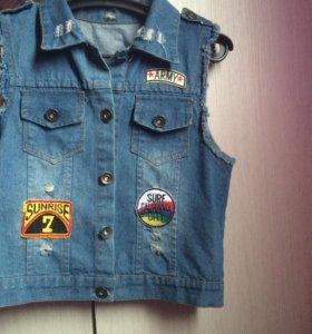 Джинсовка,джинсовая жилетка