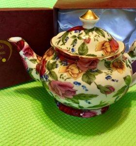 Чайник и кружка фарфоровые