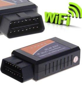 Сканер диагностики WiFi OBDII-327. Новый. В упак.