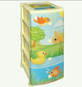 Комод детский уточка ящик для игрушек