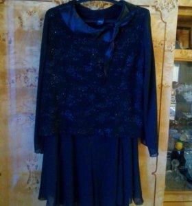 Шифоновая юбка с блузой