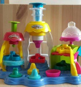 набор Play-doh фабрика пирожных