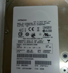 HDD Hitachi HUS156030VLS60 300GB, 15K RPM, SAS