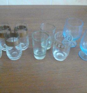 Стопочки, стаканы, вазочки(сахарницы)