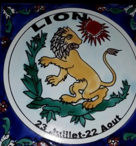 Лев сувенир 15х15см новый