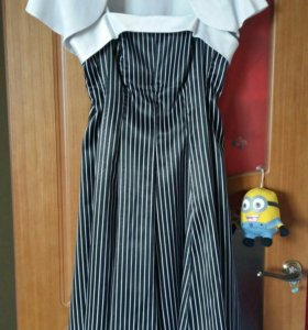 Платье с балеро атласное
