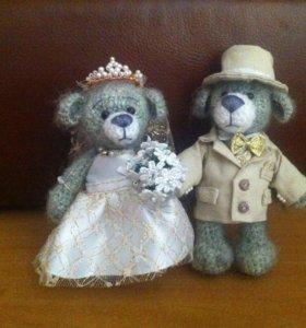 "Игрушки ""медвежата жених и невеста"""