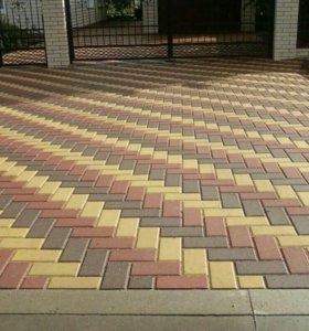 Укладка плитки тротуарной, плитняка