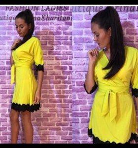 💥НОВОЕ! Трикотажное желтое платье. 💥 👍