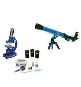 Набор телескоп и микроскоп Eastcolight в кейсе с а