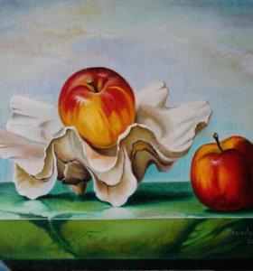 Продам картину - Яблоки в ракушке.