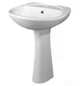 Раковина в ванну с пьедесталом
