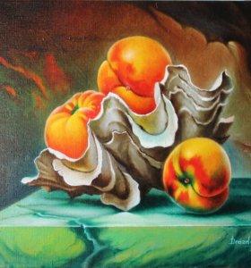 Продам картину - Персики в ракушке.