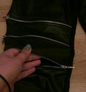 НОВЫЕ! Кожаные брюки-лосины