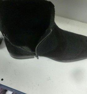 Ботинки зимние из войлока
