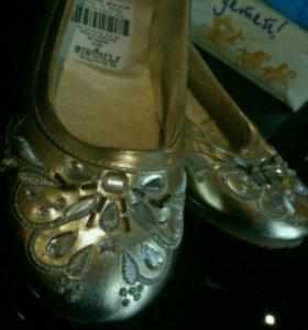 Туфли для девочки(новые) 35 размер