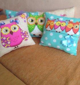 Подушки с совами