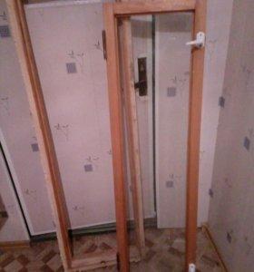 Дверь меж балконная с окном