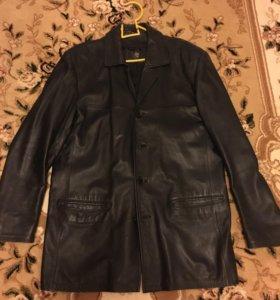 Мужская кожаная куртка- пиджак