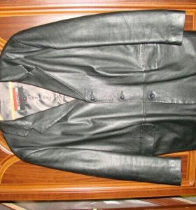 Пиджак кожаный размер 56 б/у в хорошем состоянии