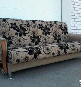 000151 новый диван книжка мешковина от фабрики