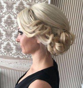 Вечерние свадебные повседневные причёски 👸🏼❗️❗️