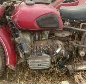 Мотоцик днепр с люлькой