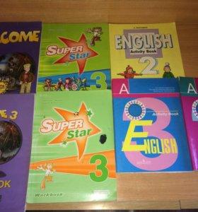 Workbook, activity book, super star, english р