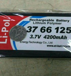 Li-Pol аккумулятор 37 66 125 3,7V 4200mAh