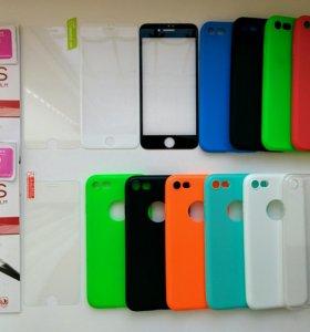 На iphone 7 защитные стекла и чехлы