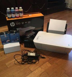 Принтер МФУ (HP DESKJET 1510) +СНПЧ