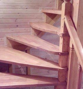 Делаю лестницы деревянные, монолитные, каркасные.