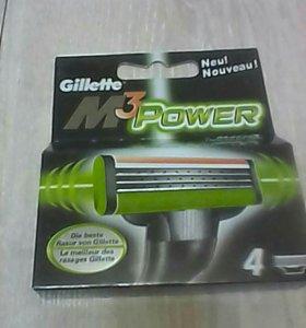 Новые кассеты для бритья Gillet M 3 Power